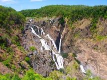 Australien barronfalls queensland arkivbild