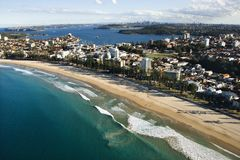 Australien beachfront egenskap royaltyfria bilder