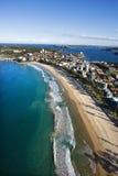 Australien beachfront egenskap arkivfoto
