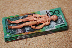 Australien 100 billets d'un dollar Image stock