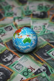Australien 100 billets d'un dollar Photographie stock libre de droits