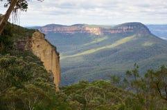 Australien blå bergnationalpark royaltyfri fotografi