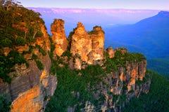 Australien blå bergnsw Arkivbilder