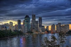 Australien brisbane Arkivbild