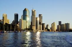 Australien brisbane stadshorisont Arkivfoto