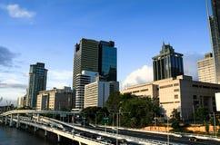 Australien brisbane stadshorisont Arkivbilder