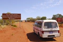 Australien central stor väg Royaltyfria Foton