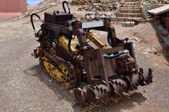 Australien, Coober Pedy, Bergwerksausrüstung Stockfotos