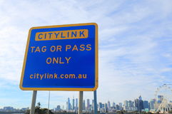 Australien d'autoroute de Melbourne Citylink Photo stock