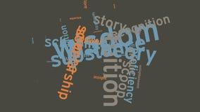 Australien, das Bildungs-Schule lernt und Wort-Wolkentypographieanimation ausbildet Stockfoto