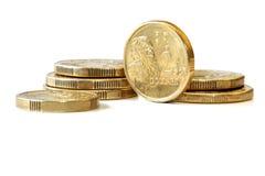 Australien deux pièces de monnaie du dollar Photos libres de droits