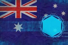 Australien digital modell Elektroniskt rambegrepp Royaltyfri Bild