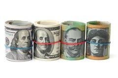 Australien dollar, sedel av Australien och USD Royaltyfri Foto