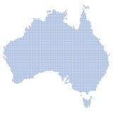 Australien dots översikten Royaltyfri Bild
