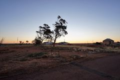 Australien du sud à l'intérieur au crépuscule Photos stock
