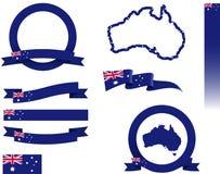 Australien-Fahnen-Satz Lizenzfreies Stockfoto
