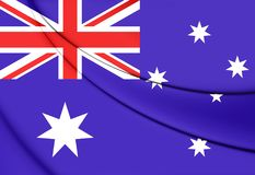 Australien flagga stock illustrationer