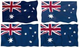 Australien flagga royaltyfri illustrationer