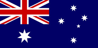 Australien flagga Arkivbild