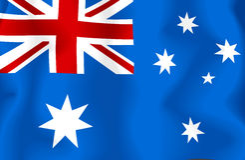 Australien flagga Royaltyfri Fotografi