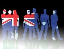 Australien flagganational Royaltyfri Bild