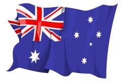 Australien flaggaserie royaltyfri illustrationer