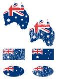 Australien flaggaset Arkivbilder