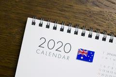 Australien-Flaggen-2020 Kalender stockfotografie