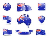 Australien-Flaggen-Sammlung Stockfotografie