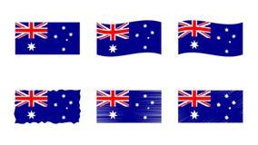 Australien-Flaggenvektor-Illustrationssatz, offizielle Farben von Commonwealth von Australien-Flagge stock abbildung