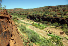 Australien gömma i handflatan dalen Arkivbilder