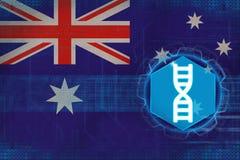 Australien genteknik kodbegreppsdna passade ett styckställehöger sida skallr Royaltyfri Foto