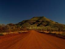 Australien grusväg Fotografering för Bildbyråer