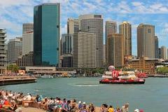 Australien hamn sydney Arkivfoto
