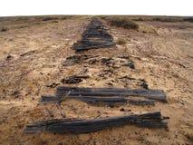Australien ingenstans outback järnväg till Arkivbilder