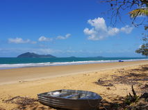 Australien, Inseln, Strand, Boot Lizenzfreies Stockfoto