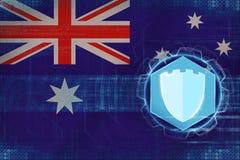 Australien internetskydd Netto försvarbegrepp Arkivbilder
