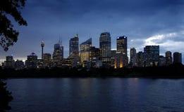 In Australien ist- eine wunderbare Nachtansicht, Gebäude und Seeblau wunderbar Stockbilder