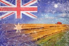 Australien jordbruk som skördar skördar Royaltyfri Foto