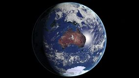 Australien jordplanet Arkivbild