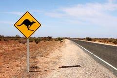 Australien kängurutecken Arkivfoto