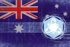 Australien kärnenergi Kärn- elektricitetsbegrepp Royaltyfria Foton