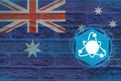 Australien kärnenergi Kärnkraftbegrepp Arkivbilder