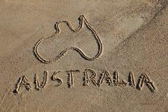 Australien-Karte Stockbild