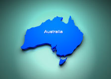 Australien-Karte Lizenzfreies Stockfoto