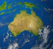 Australien-Karte Stockfotografie