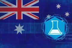 Australien kemi Begrepp för kemisk bransch Arkivbild