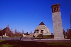 Australien: Kriegs-Denkmal in Melbourne lizenzfreies stockbild