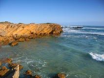 Australien kust steniga victoria Arkivbilder