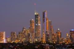 Australien kustguld visar nigh Royaltyfria Foton
